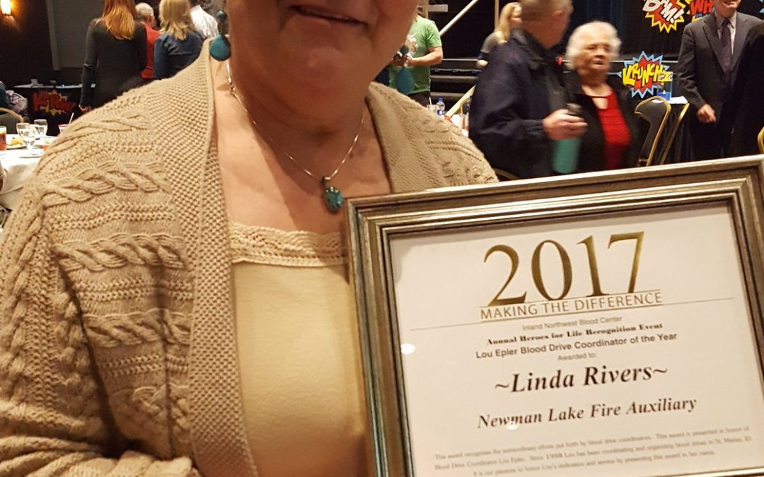 Linda Schulz Rivers named Blood Drive Coordinator of the Year!
